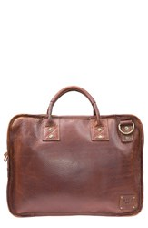 Will Leather Goods Men's 'Hank' Satchel Brown Cognac