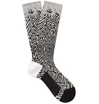 Haider Ackermann Jacquard Knit Socks Light Gray