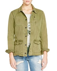 Scotch And Soda Cotton Military Jacket Army Green