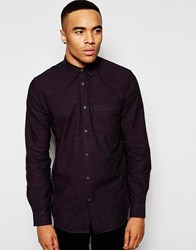 New Look Long Sleeve Shirt In Purple Darkpurple