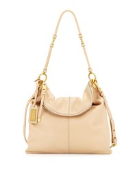 Martina Leather Tote Bag Latte Badgley Mischka