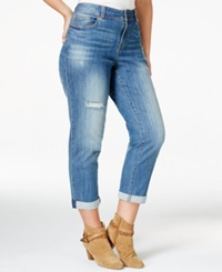 American Rag Plus Size Ripped Boyfriend Jeans Fei Wash Only At Macy's