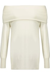 Madeleine Thompson Draped Cashmere And Wool Blend Sweater Off White