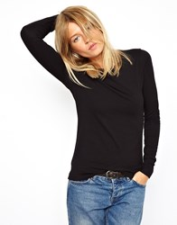 Asos Long Sleeve Top With Crew Neck White 12.00
