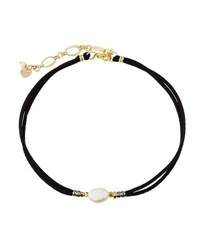Nakamol Delicate Pearl And Suede Choker Necklace Multi