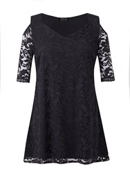 Grace Made In Britain Lace Detail Tunic Top Black