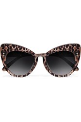 Stella Mccartney Cat Eye Leopard Print Acetate Sunglasses Brown