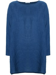 Stefano Mortari Boat Neck Blouse Blue