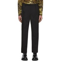 Givenchy Black Bootcut Chino Trousers