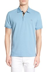 Men's Burberry Brit 'Oxford' Short Sleeve Polo