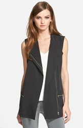 Trouve Women's Trouve Asymmetrical Moto Vest Black