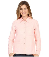 Mountain Hardwear Canyon Long Sleeve Shirt Coralescent Women's Long Sleeve Button Up Pink