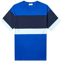 Schiesser Striped Georg Tee Blue