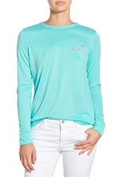 Women's Vineyard Vines 'Vintage Whale' Long Sleeve Performance Tee