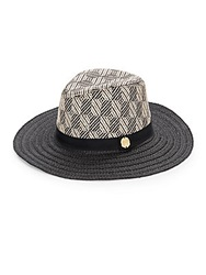 Vince Camuto Diamond Wide Brim Fedora Black