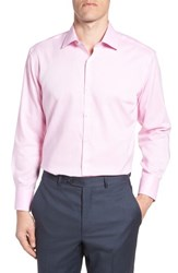 Tailorbyrd Big And Tall Hank Trim Fit Solid Dress Shirt Pink
