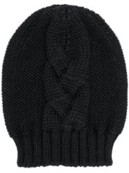 Semicouture Cable Knit Beanie Black