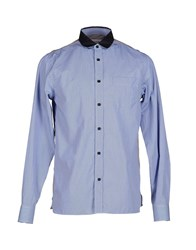 Mauro Grifoni Shirts Shirts Men Blue