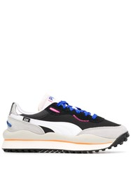 Puma Contrast Panel Logo Embroidered Sneakers Black