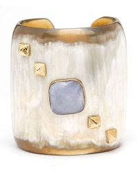 Ashley Pittman Light Horn Crystal Cuff Bracelet