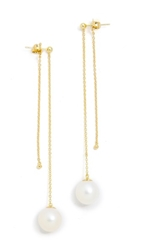 Kacey K Cultured Freshwater Pearl Drop Earrings Pearl Gold