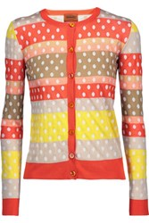Missoni Polka Dot Cotton Blend Cardigan Multi