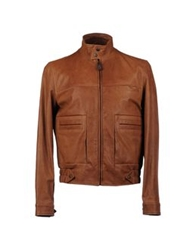 Hogan Leather Outerwear Brown