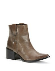 Rachel Zoe Pearce Leather Ankle Boots Smog