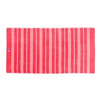 Lexington Striped Velour Beach Towel 100X180cm Rose White