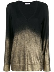 Versace Collection V Neck Lightweight Jumper Black