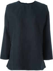 Sofie D'hoore 'Bosphhorus' Fitted Blouse Blue