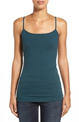 Petite Women's Halogen 'Absolute' Camisole Teal Abyss