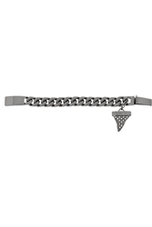 Givenchy Shark Tooth Bracelet In Ruthenium Tone Brass And Faux Pearl