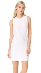 James Perse Tucked Shift Dress White