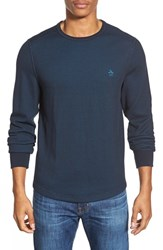Men's Original Penguin Reversible Waffle Knit Long Sleeve Shirt Dark Sapphire