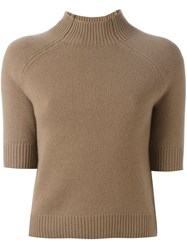 Theory Short Sleeved Pullover Nude Neutrals