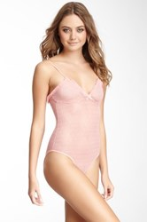 Honeydew Intimates Diamonds Mesh Bodysuit Pink