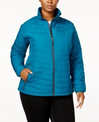 Columbia Plus Size Oyanta Trail Insulated Active Jacket Green