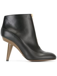 Marni Zip Up Ankle Boot Black