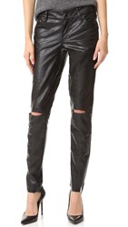 One Teaspoon Apollo Vegan Leather Pants Black