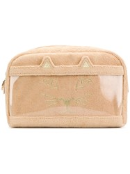 Charlotte Olympia Terry Kitty Pouch Nude And Neutrals
