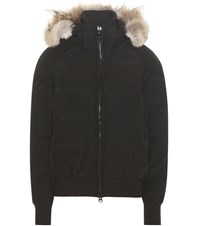 Canada Goose Savona Down Bomber Jacket With Fur Black