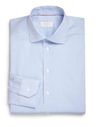 Eton Of Sweden Slim Fit Bengal Stripe Dress Shirt Blue