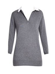 Wallis Grey 2 In 1 V Neck Jumper