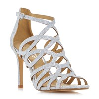 Head Over Heels Mae Caged Dressy Sandals Silver