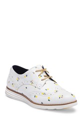 Cole Haan Original Grand Wingtip Shoe White Printed Floral Leather