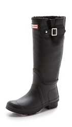 Hunter Original Shearling Tall Boots Black