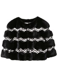 Carolina Herrera Cropped Bolero Jacket Black