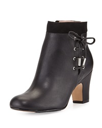 Taryn Rose Terrie Side Laced Leather Bootie Black