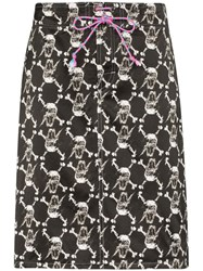 Ashley Williams Skull And Bones Midi Skirt 60